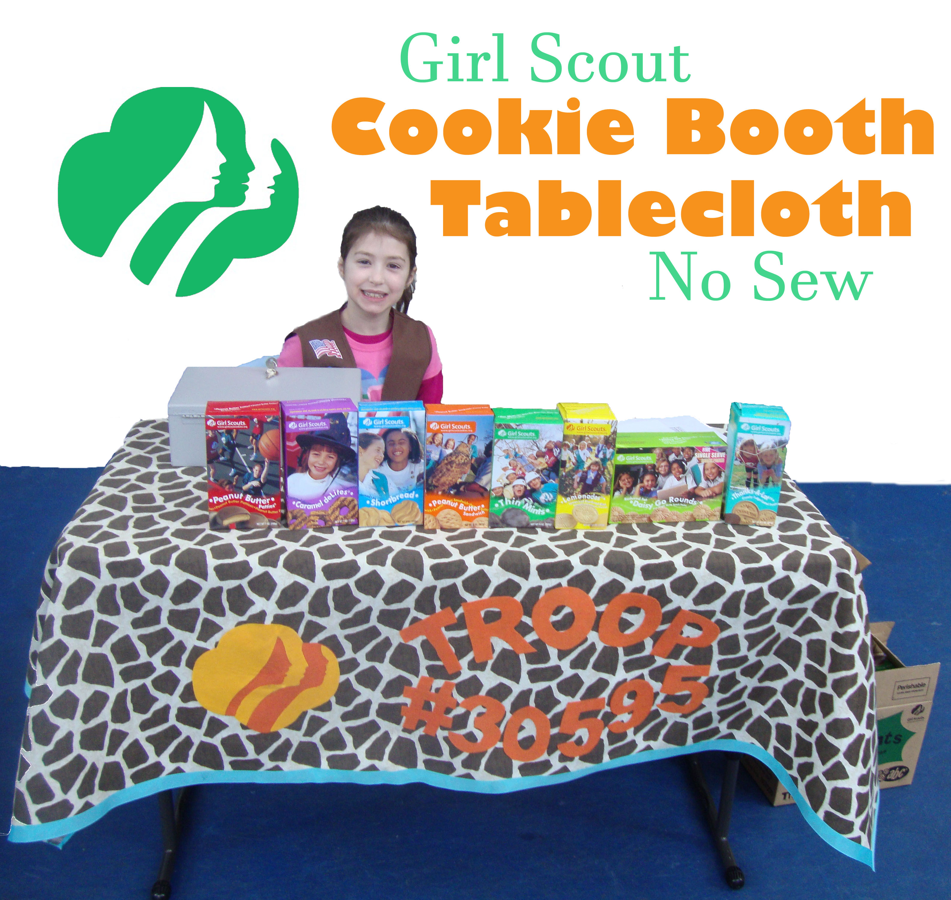 No Sew Girl Scout Tablecloth