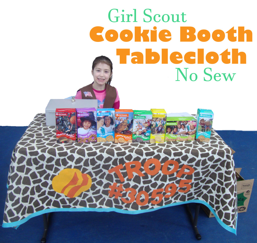 Girl Scout Cookie Booth Table Cloth No Sew