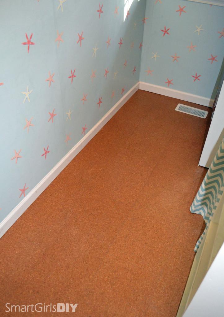 Smart Girls DIY - cork floor laundry renovation