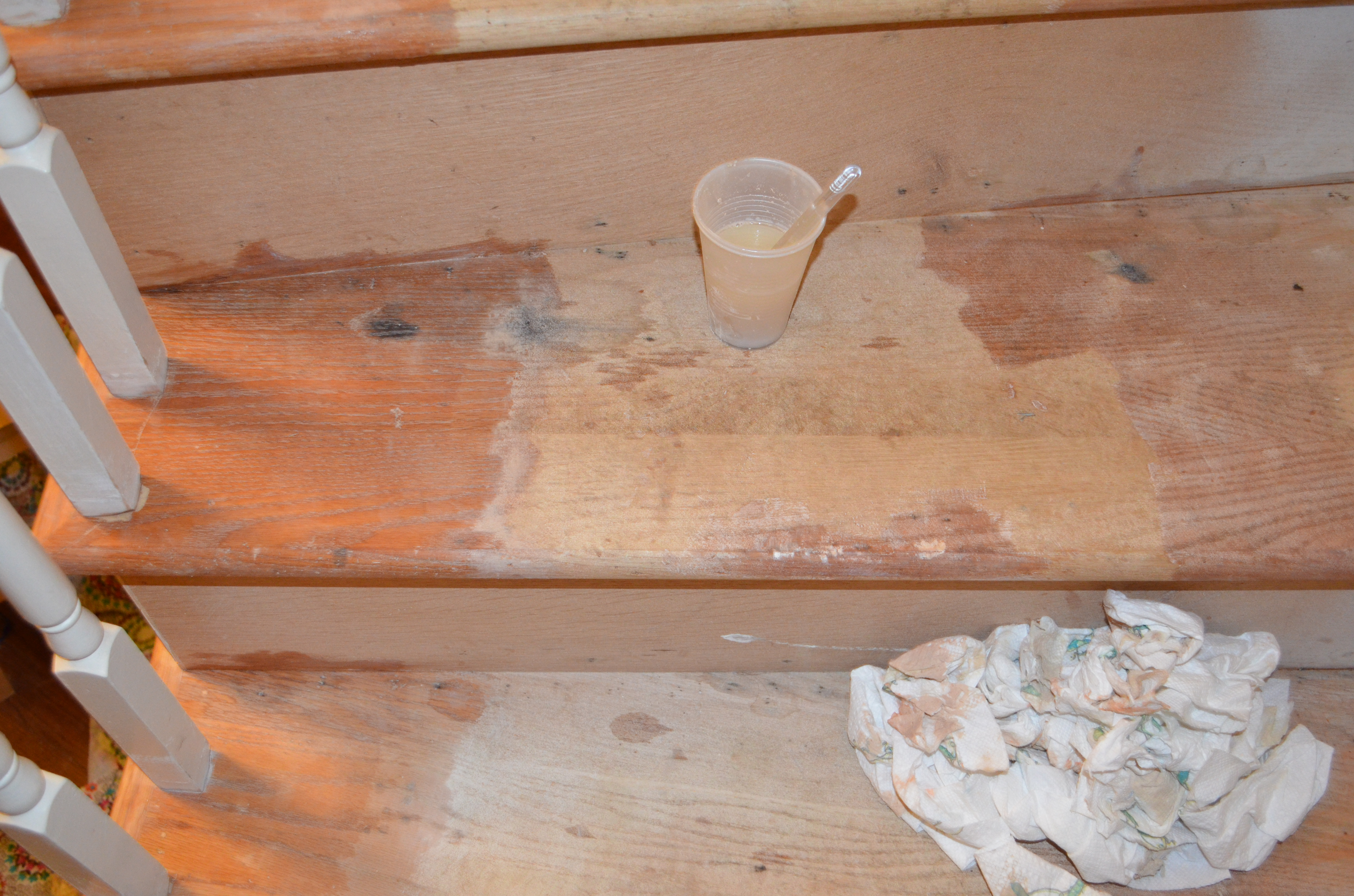 Staircase 4: Filling Holes, Sanding + Stripping