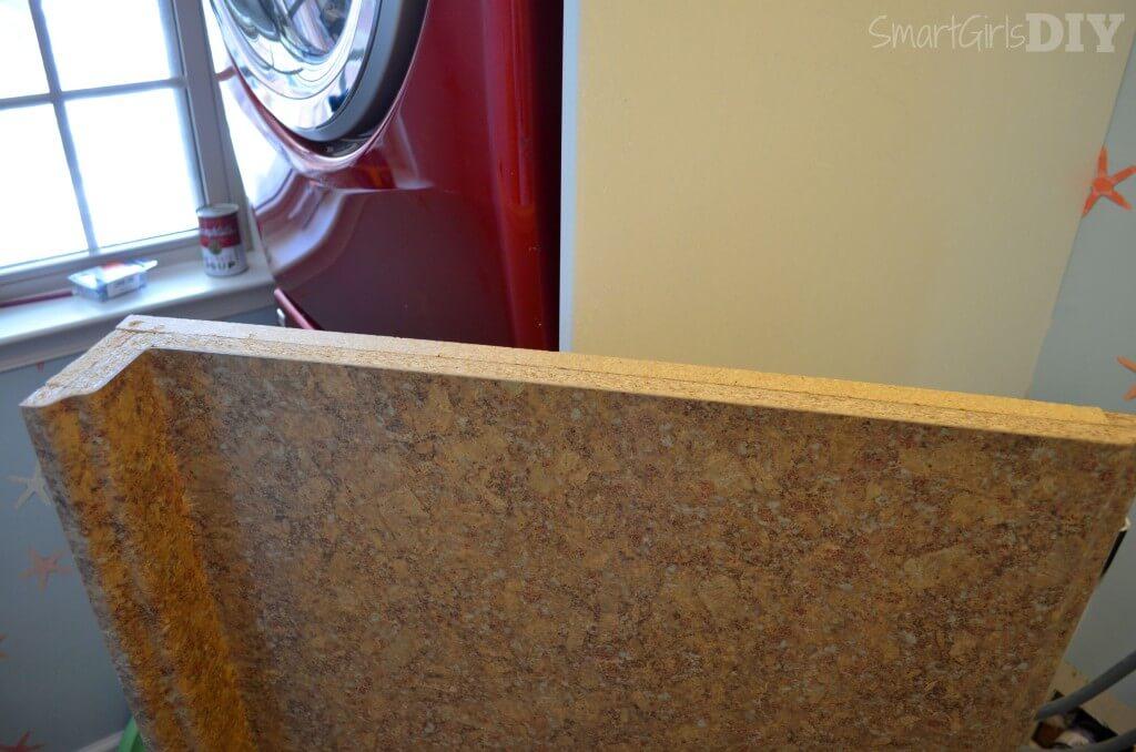 Edge of laminate counter top needs banding
