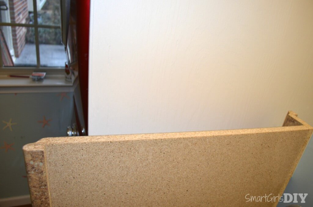 Laminate counter from Home Depot used in laundry room