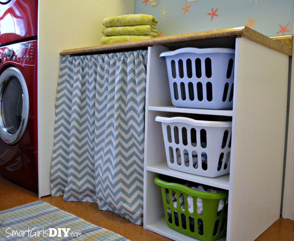 Laundry Room 4: Laundry Basket Shelf and Counter Top