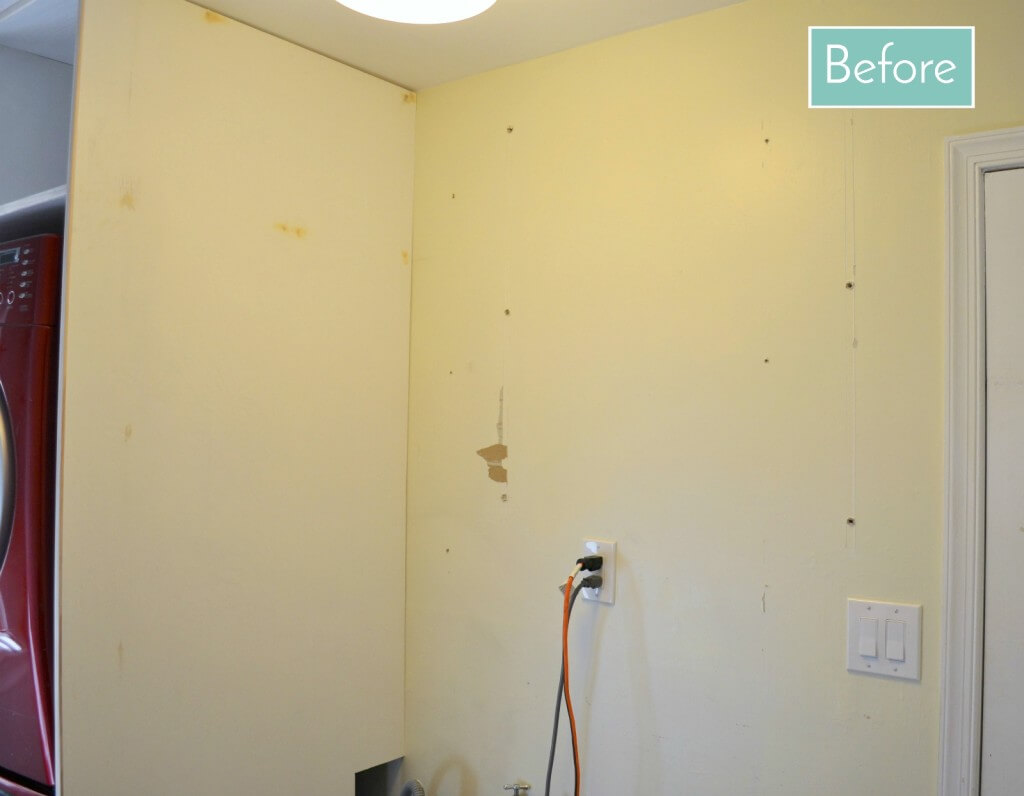 Laundry room makeover -- in need of wallpaper