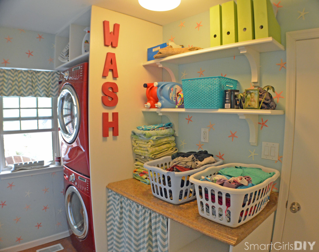 Smart Girls Laundry Room in Action