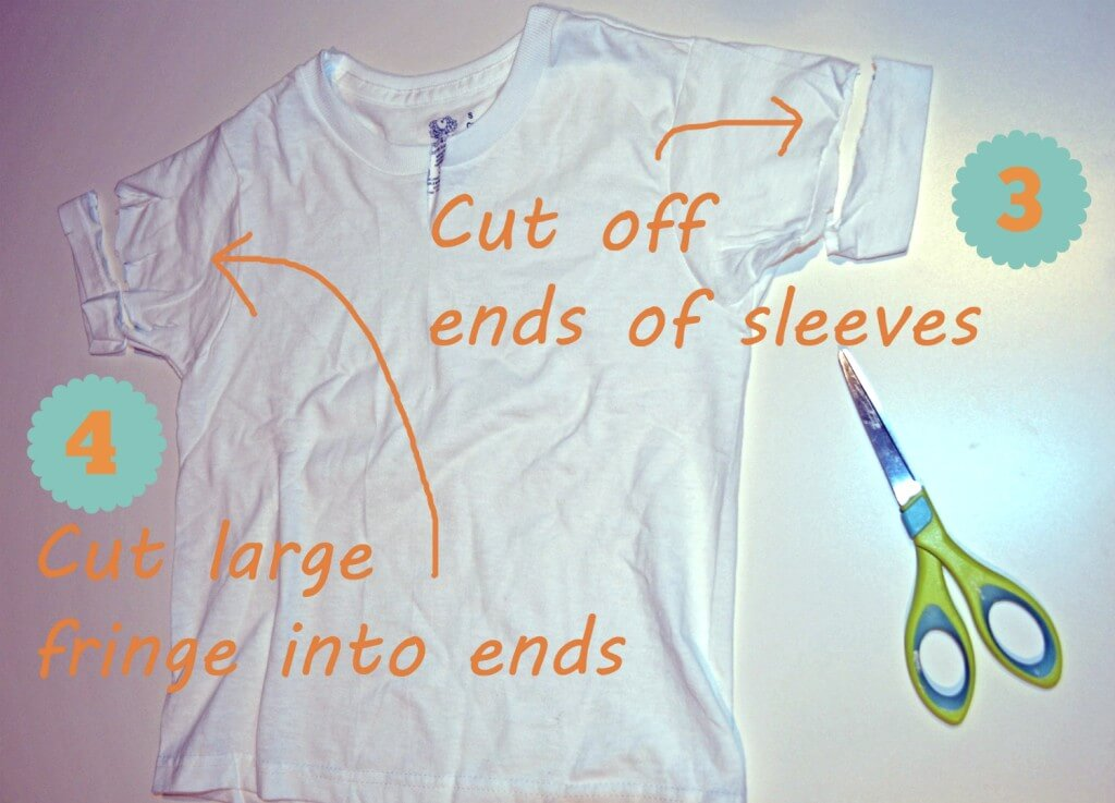 DIY Jakes pirate shirt - steps 3 and 4