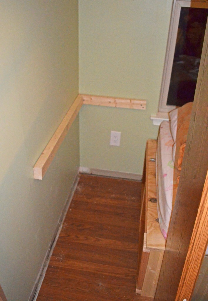 1st step is wall supports