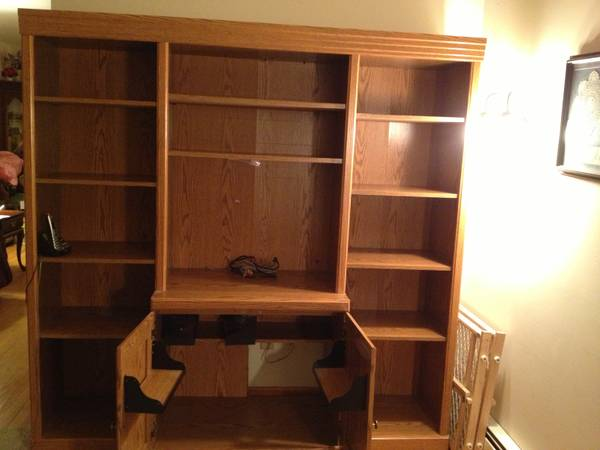 Large Built In Wall Unit Traditional Closet Pictures to