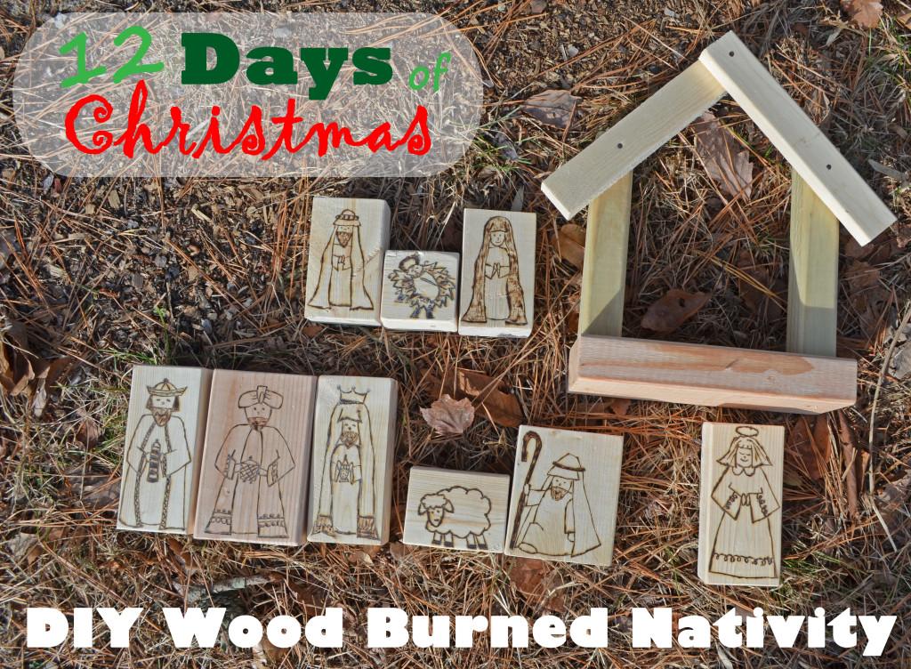 DIY Wood Burned Nativity