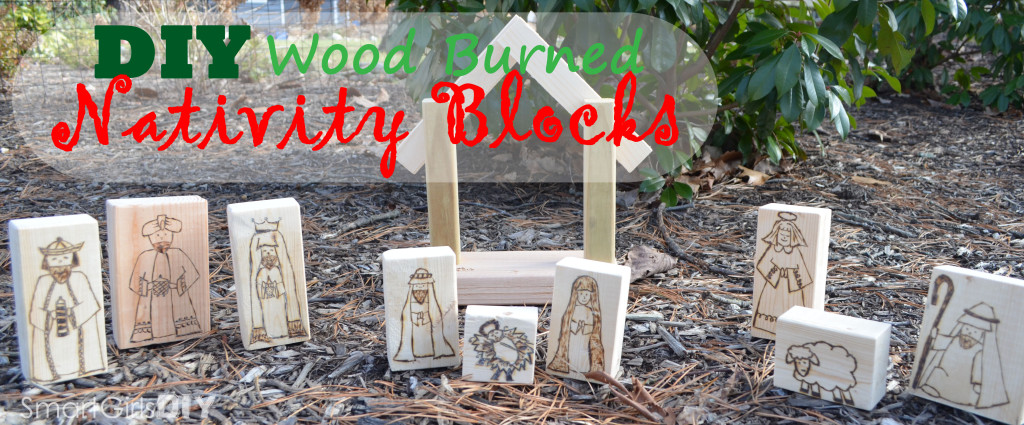 DIY Wood Burned Nativity Blocks -- Pyrography
