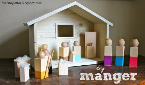 DIY manger from That's My Letter