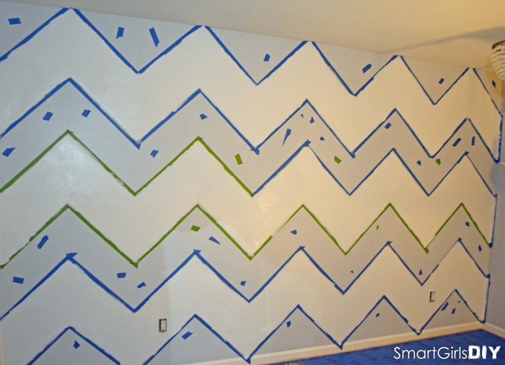 Painted Chevron Pattern