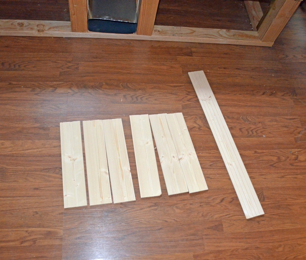 Plank paneling cut to size