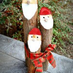 Santa Logs Christmas Nisse Craft