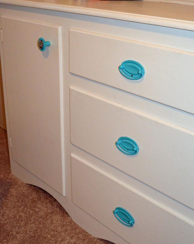 Smart Jr Spray Painted Blue Knobs