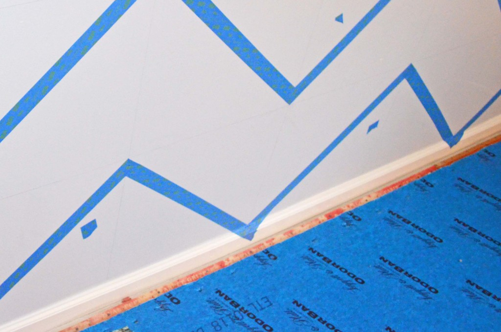 tips how to diy chevron wall