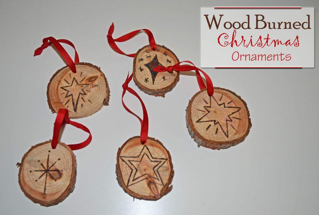 Wood Burned Christmas Oraments