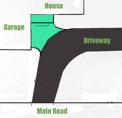 Driveway Porch Configuration - After