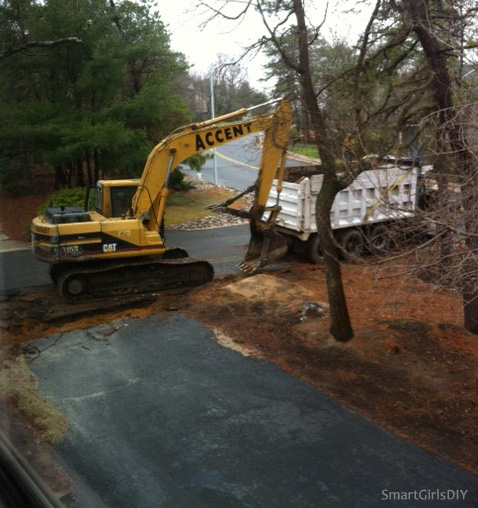 Yard History 2011- Removing Asphalt Road