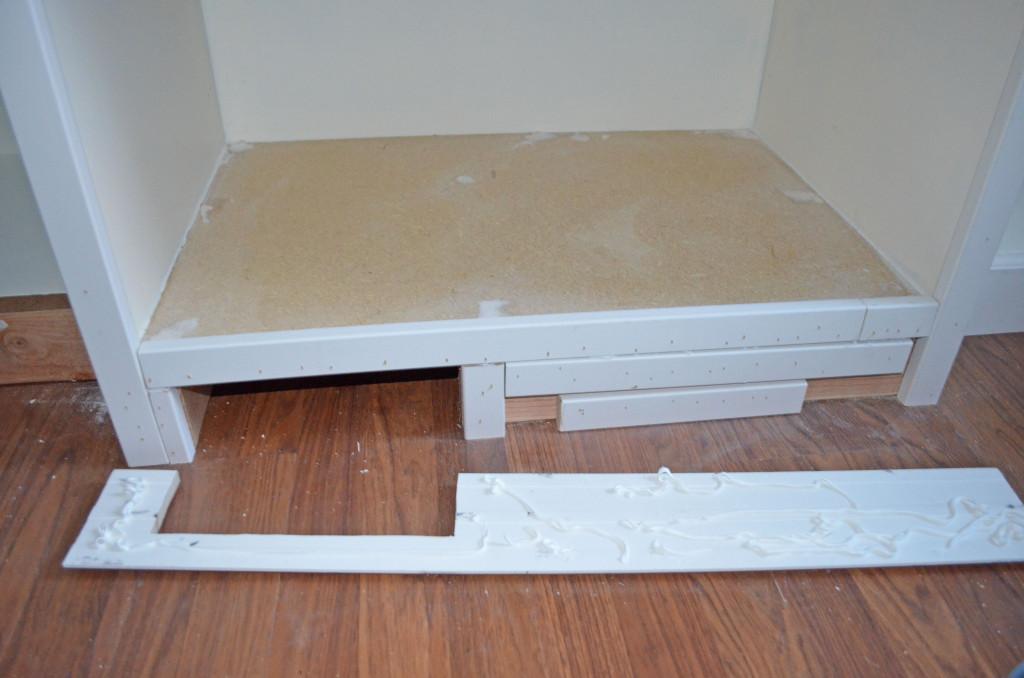 glue and nail baseboard