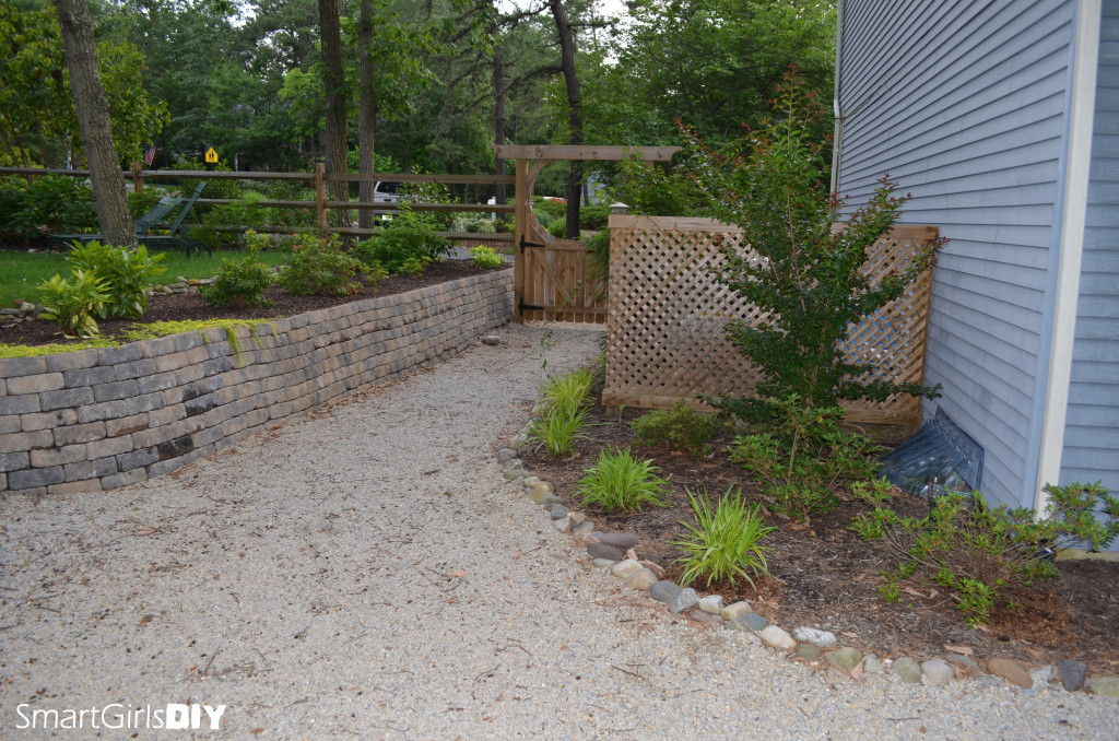 Lattice enclosure Arbor gate Fence and Retaining wall complete
