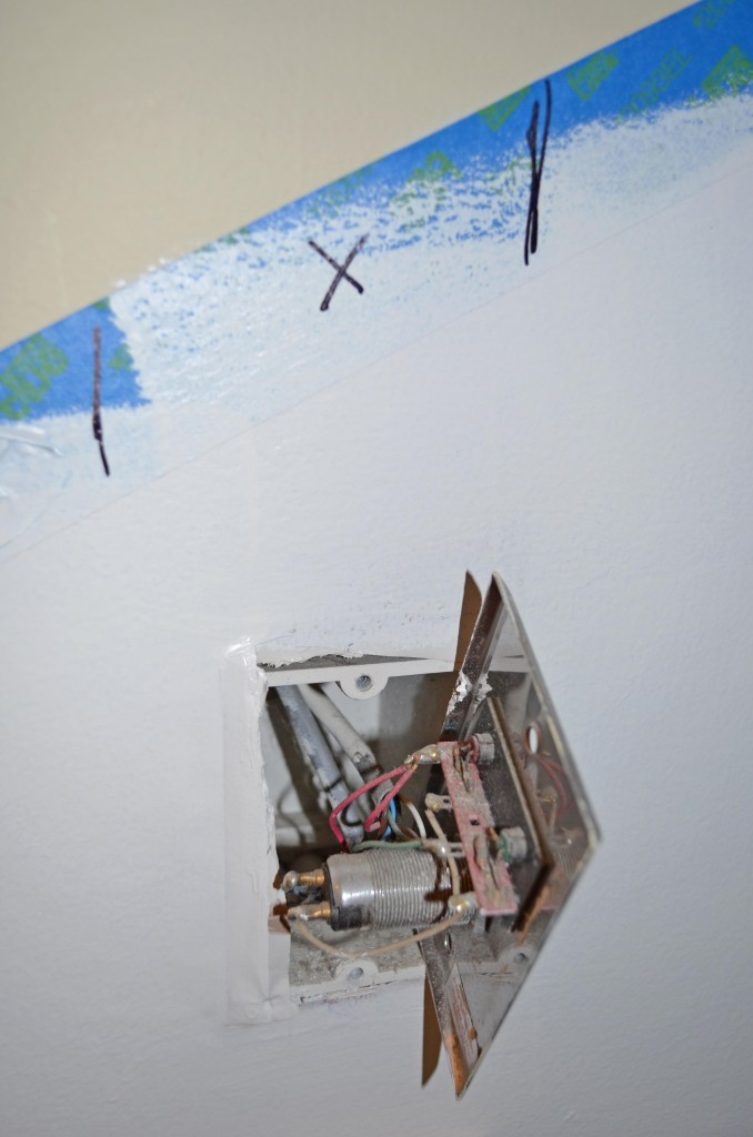 A batten was put over the hole created