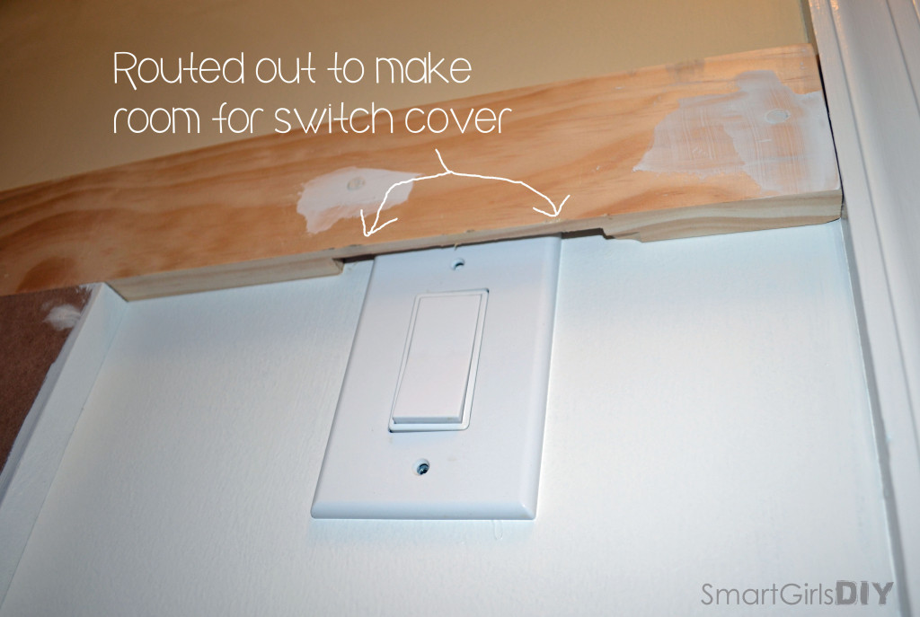 Board and Batten - routed out to make room for switch cover