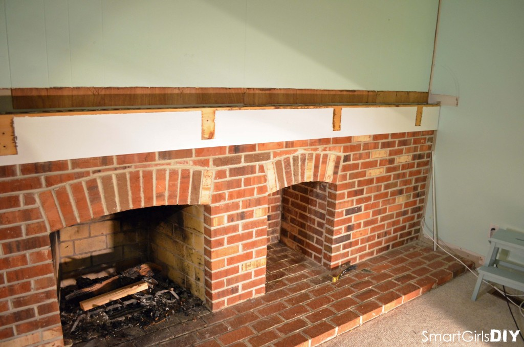 Fireplace demolition - removing the mantel