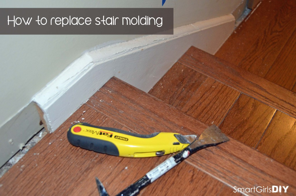 How to replace stair molding - Smart Girls DIY
