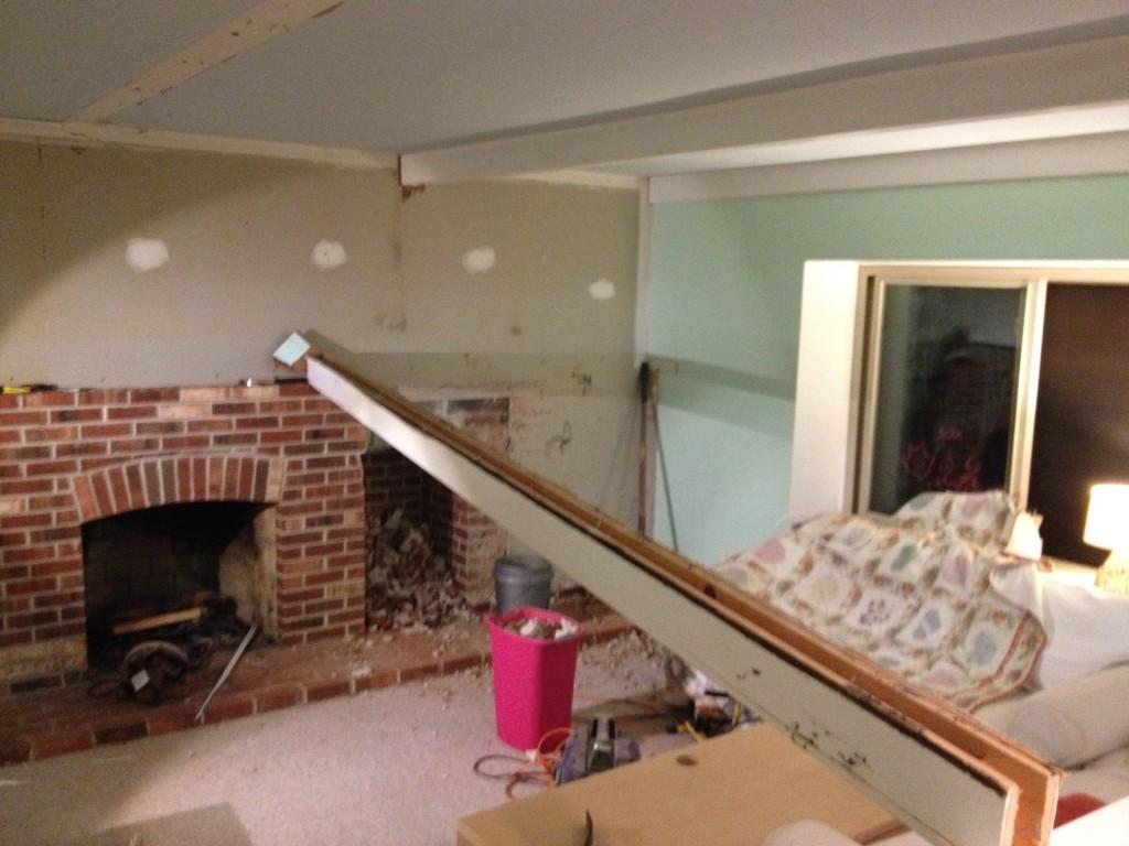 Taking down ceiling beams