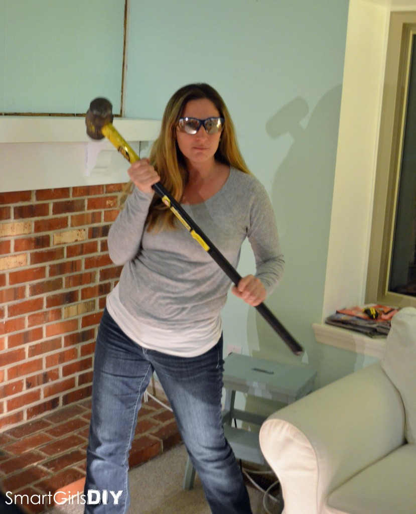 Jen with sledge hammer