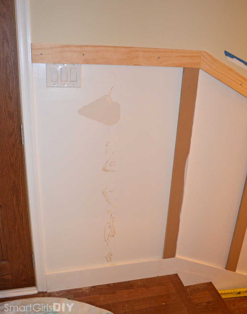 Making adjustments to board and batten - damaged the wall