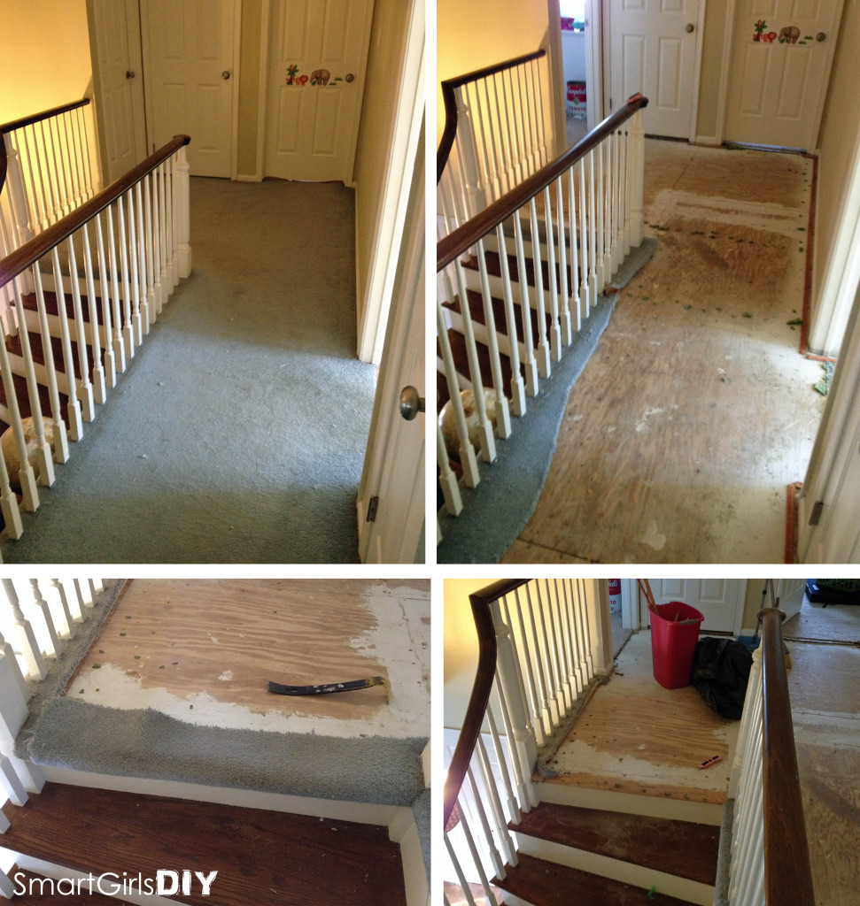 Removing carpet from hallway