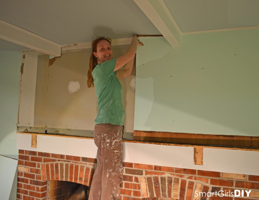 Smart Girls DIY - removing paneling at demo and wine night