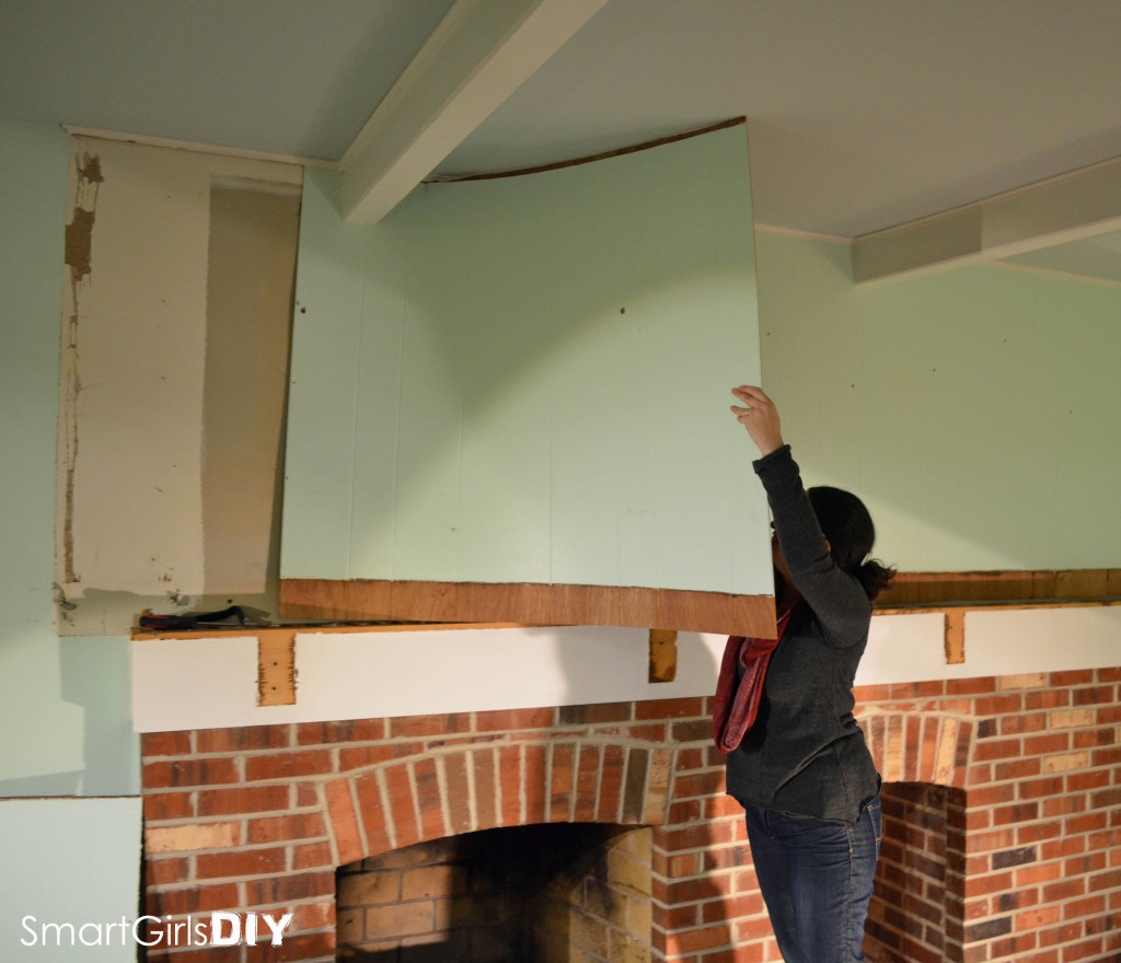 Removing paneling from wall