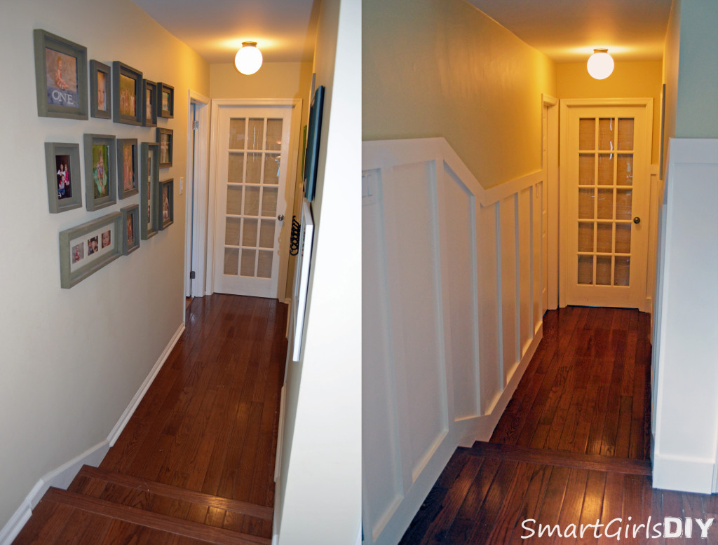 Hallway makeover - board and batten