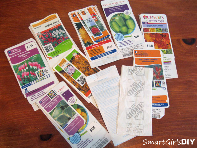 Staple plant tags to store receipts if the plants are gauranteed