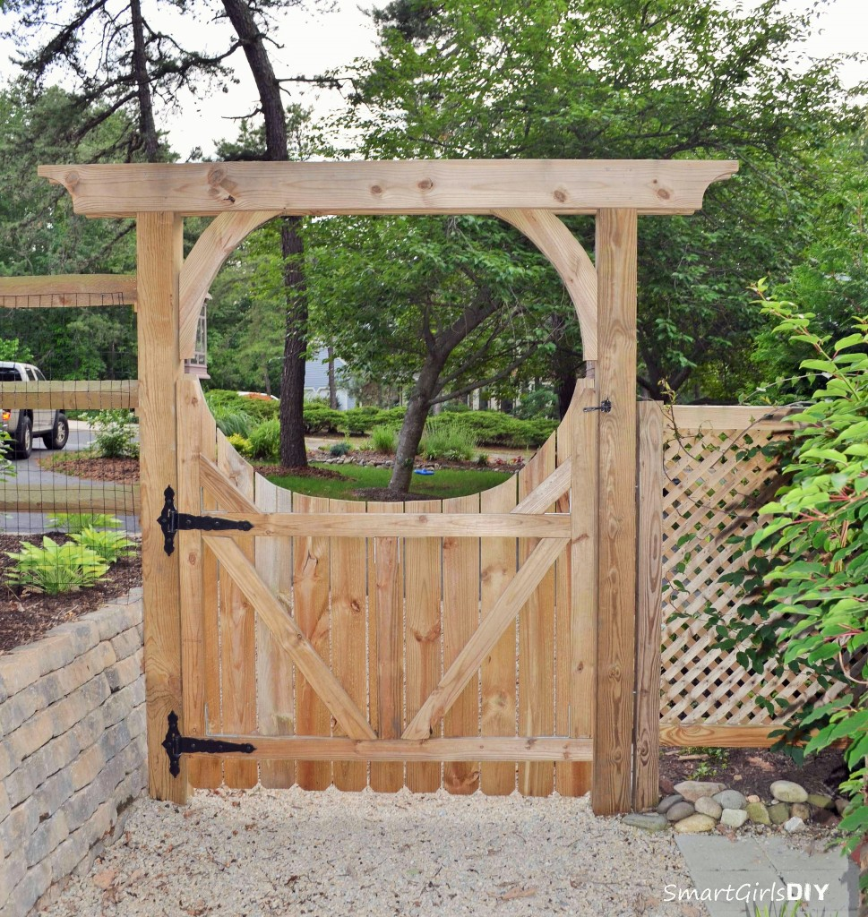 How to build a gate for your fence for Fence with arbor