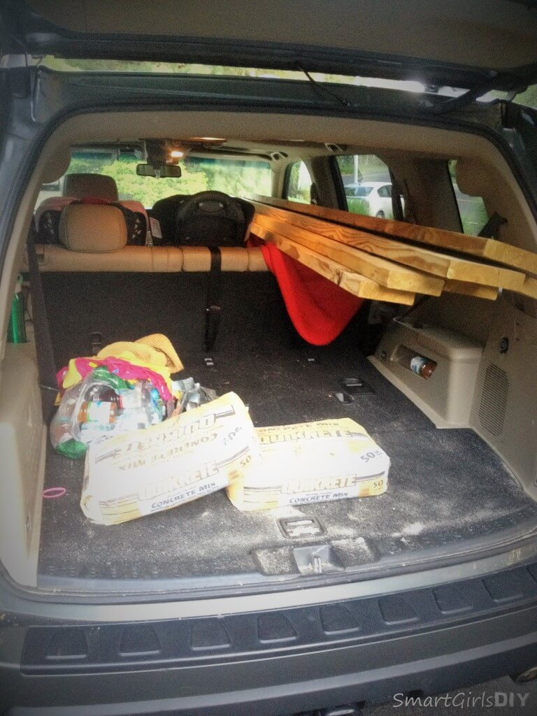 Another trip to Lowe's Home Improvement to get lumber in my Honda Pilot