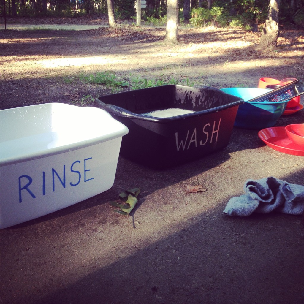 DIY dishwashing bins for camping with or without Girl Scouts