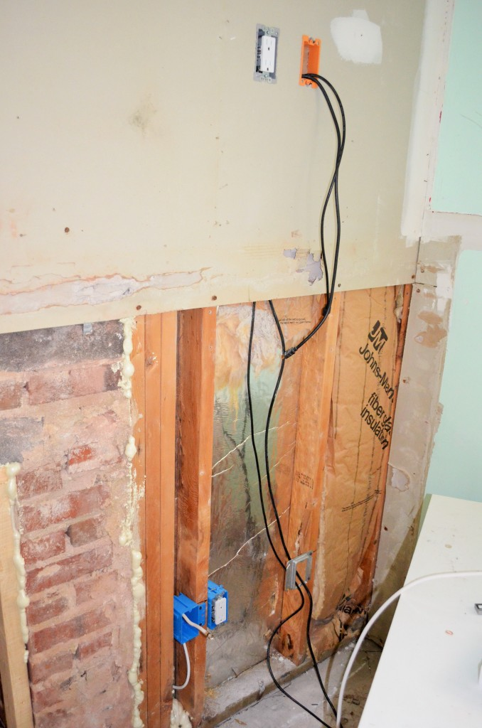 Electrician installed 2 new outlets in the wall