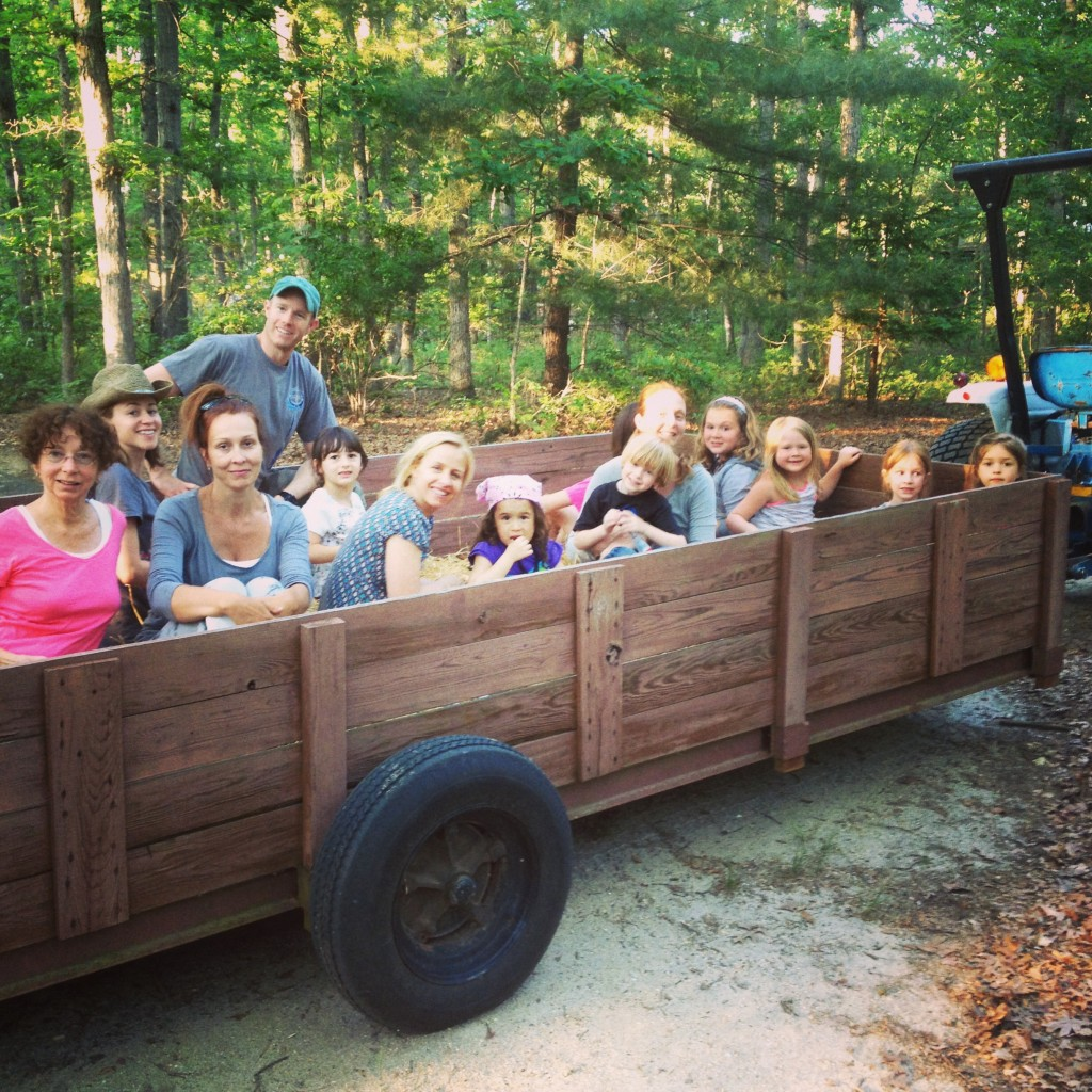 Hay ride with Daisy Girl Scouts