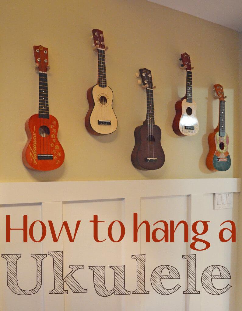 How to hang a ukulele - Smart Girls DIY