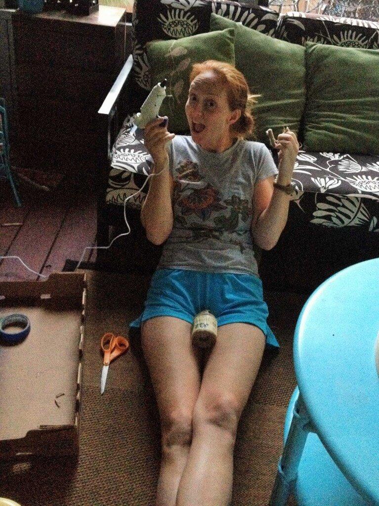 Smart Girls DIY - watch out she's got a hot glue gun