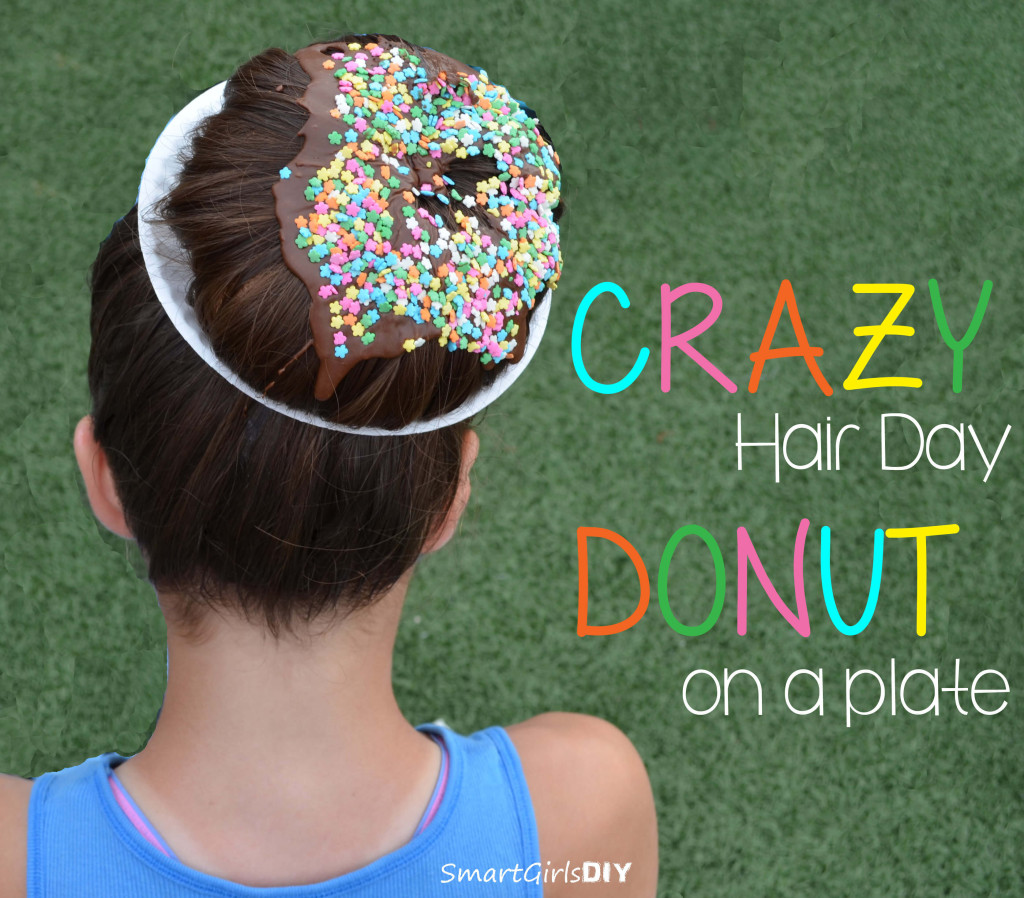 Crazy Hair Day - Donut on a plate - Smart Girls DIY