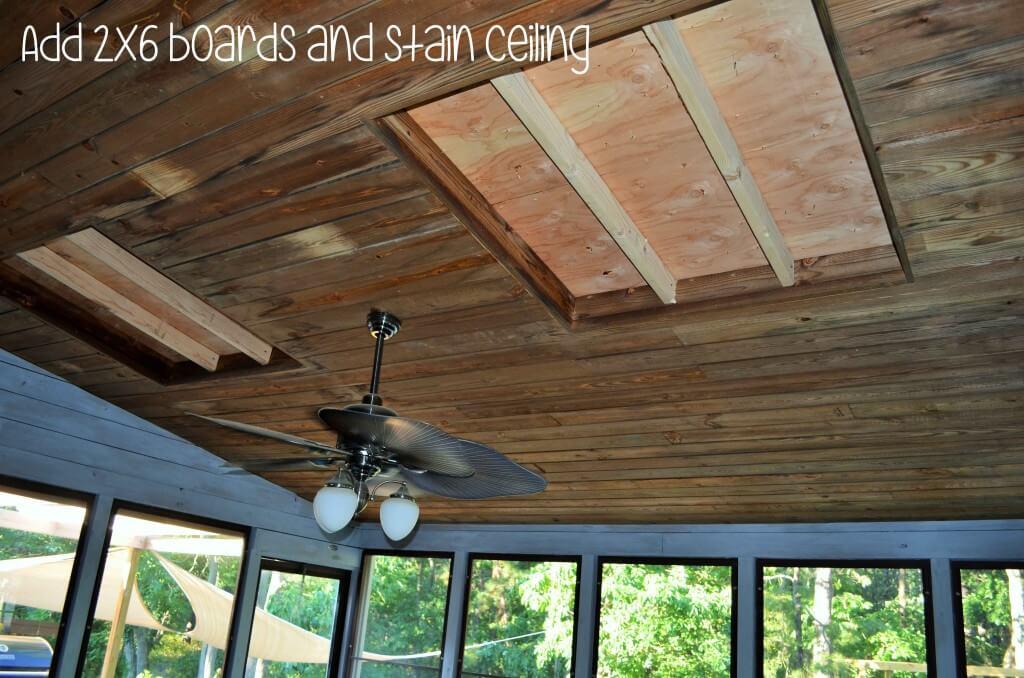 Fix porch ceiling
