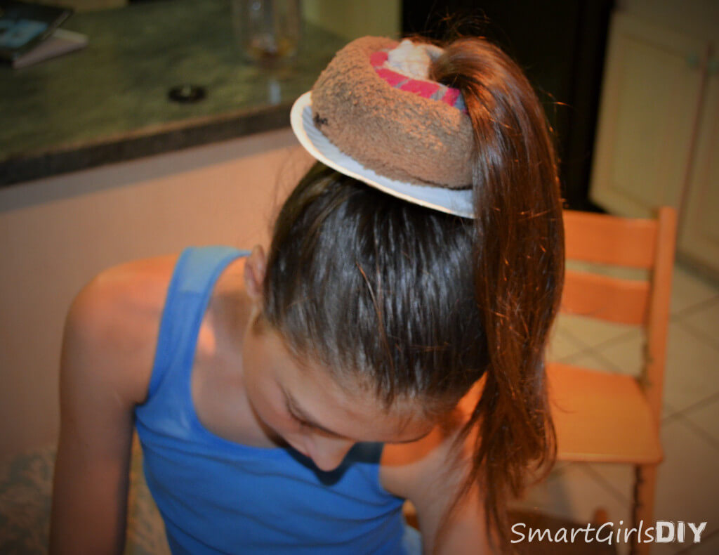 How to make a sock bun and turn it into a donut
