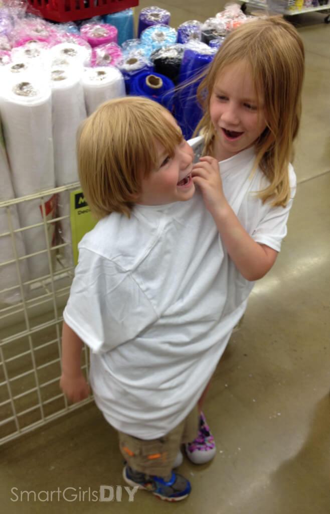 My kids want to make a get along shirt
