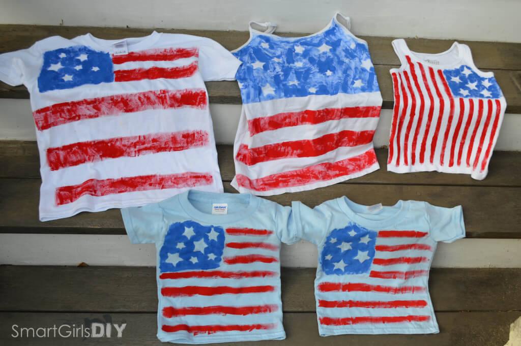 Patriotic DIY painted tshirts