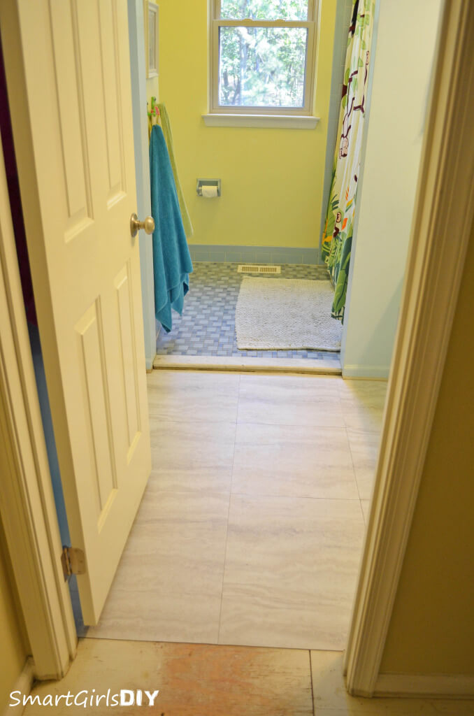 After easy bathroom tile install